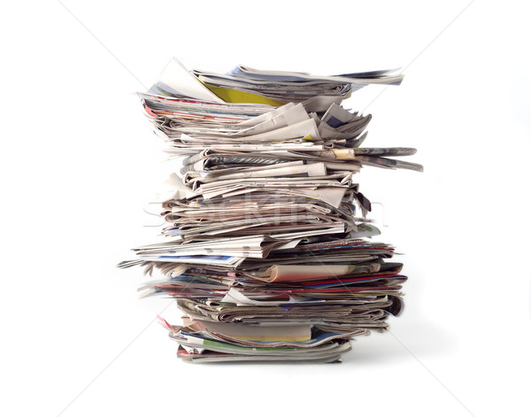 Stack of newspapers Stock photo © gemenacom