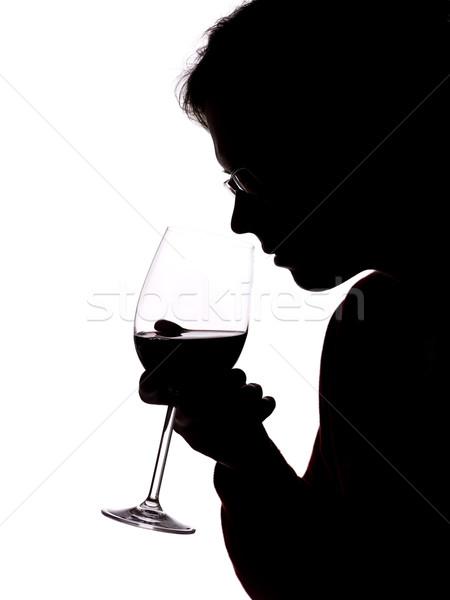 man with wine Stock photo © gemenacom