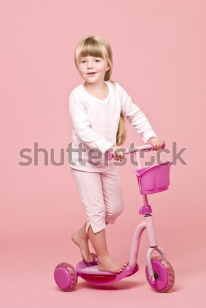 Angry girl ironing Stock photo © gemenacom