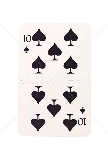 десять пики изолированный белый черный успех Сток-фото © gemenacom