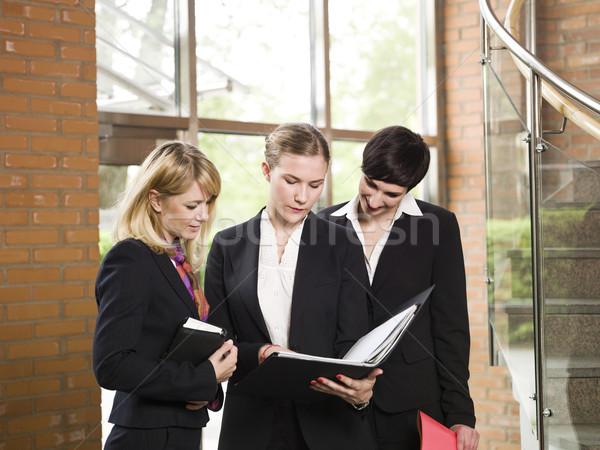 3  女性実業家 会議 ビジネス コンピュータ 作業 ストックフォト © gemenacom