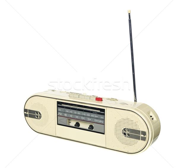 1980 stile radio isolato bianco Foto d'archivio © gemenacom