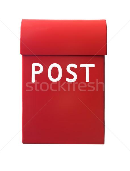 Rood mailbox geïsoleerd witte kantoor vak Stockfoto © gemenacom