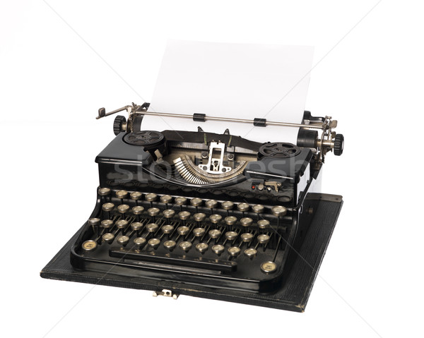 Vintage schrijfmachine papier borden witte brieven Stockfoto © gemenacom
