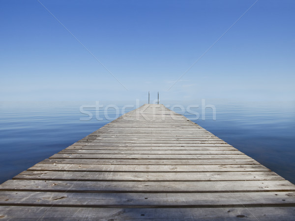 Molo charakter morza jezioro Chmura horyzoncie Zdjęcia stock © gemenacom
