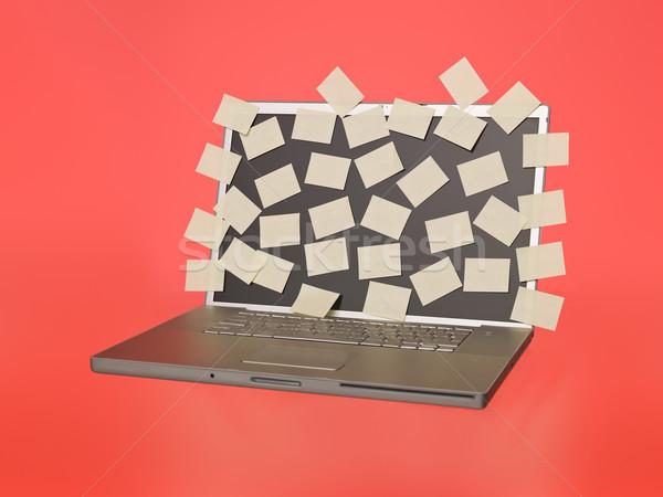 Dizüstü bilgisayar boş gri iş teknoloji e-mail Stok fotoğraf © gemenacom