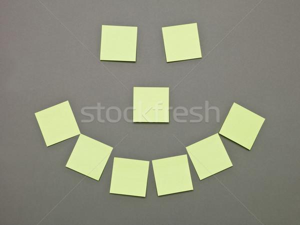 Mouth, nose and Eyes made of Adhesive Notes Stock photo © gemenacom