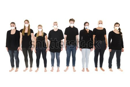 Stock photo: Girls with Protective Masks