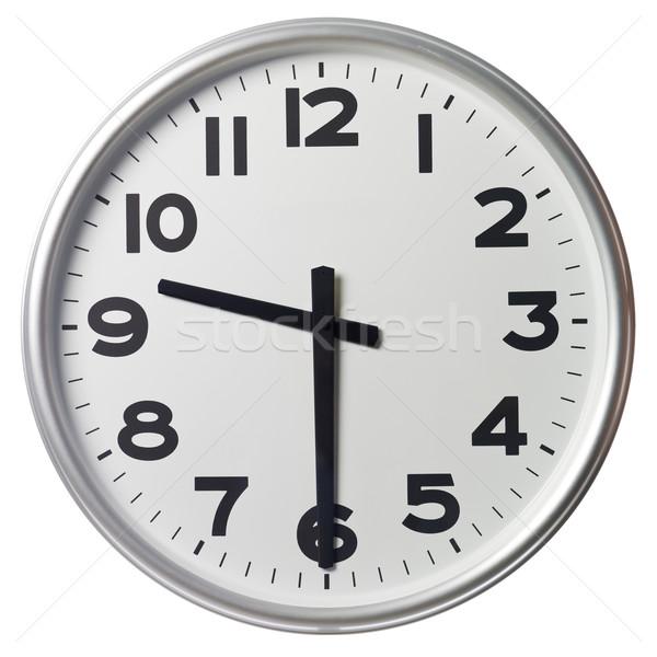 Fél múlt kilenc óra fekete fehér Stock fotó © gemenacom