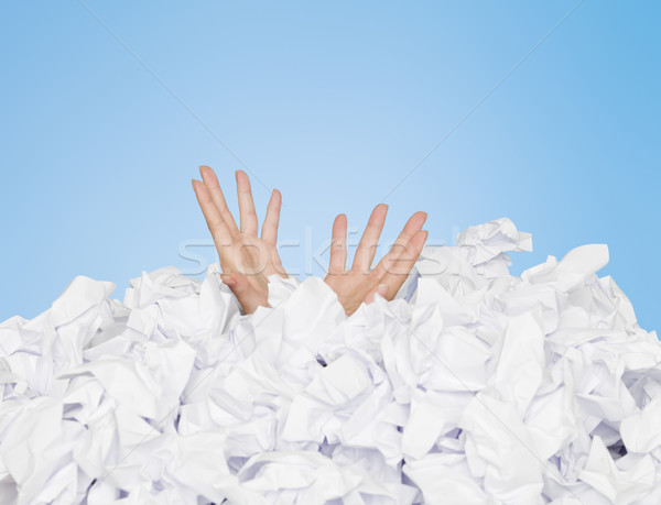 Human buried in papers Stock photo © gemenacom