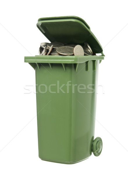 Recycling Bin with coins Stock photo © gemenacom