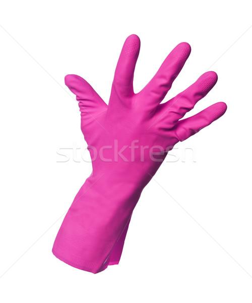 Pink protection glove isolated on white background Stock photo © gemenacom