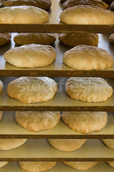 Cremalheira pão padaria Foto stock © gemenacom