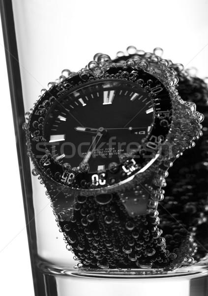a glass with a clock inside Stock photo © gemenacom