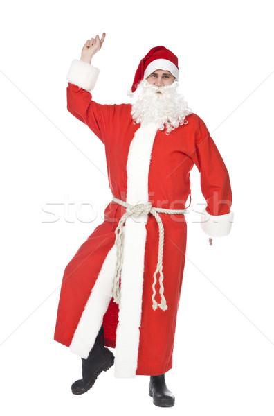 サンタクロース ダンス 孤立した 白 楽しい 休日 ストックフォト © gemenacom