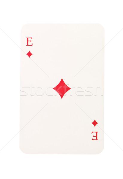 ás diamantes isolado branco vermelho sucesso Foto stock © gemenacom