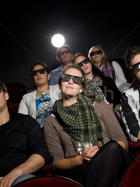 Cinema spectators with 3d glasses Stock photo © gemenacom