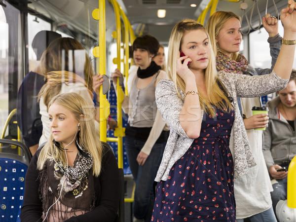Mensen bus tijd communicatie sprekers Stockfoto © gemenacom