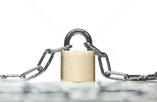 Padlock with a chain Stock photo © gemenacom