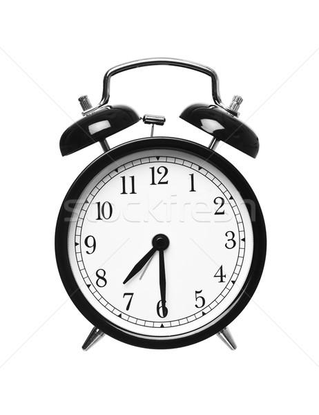 Metà passato sette sveglia isolato bianco Foto d'archivio © gemenacom