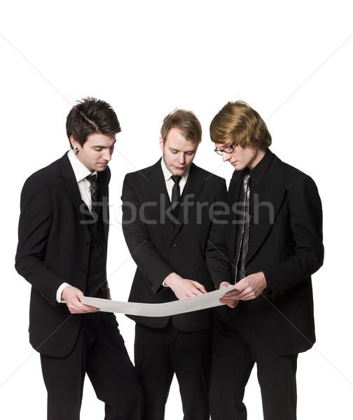 Men discussing a plan Stock photo © gemenacom