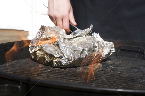 Stock photo: Side dish on foil