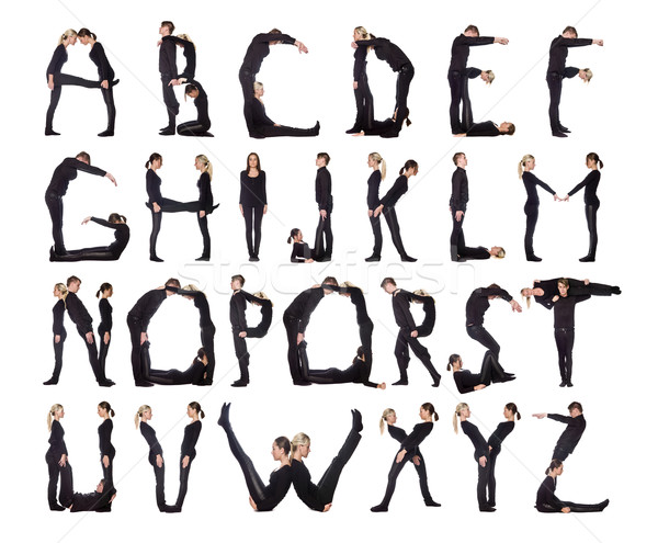 The Alphabet formed by humans. Stock photo © gemenacom