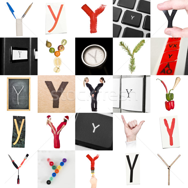 Collage of Letter Y Stock photo © gemenacom