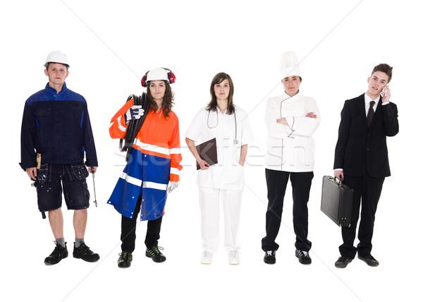Grupy ludzi inny zawód odizolowany biały kobiet Zdjęcia stock © gemenacom