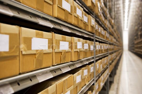 Entrepôt grand groupe carton cases affaires fabrication Photo stock © gemenacom