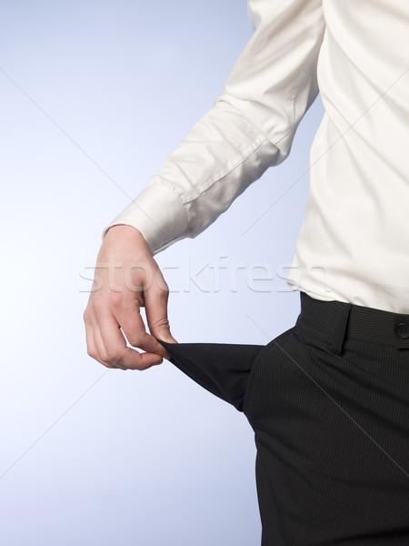 Vide poche shirt doigts Photo stock © gemenacom