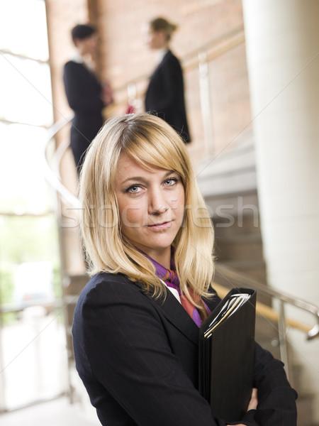 Businesswoman facing the camera Stock photo © gemenacom
