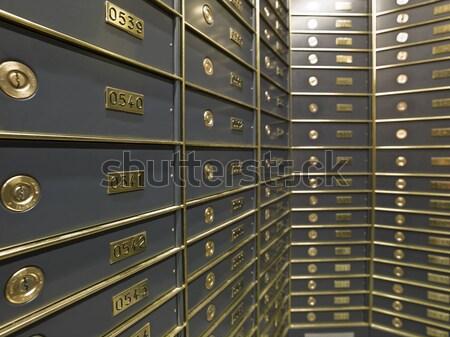 роскошный безопасной депозит коробки банка Сток-фото © gemenacom