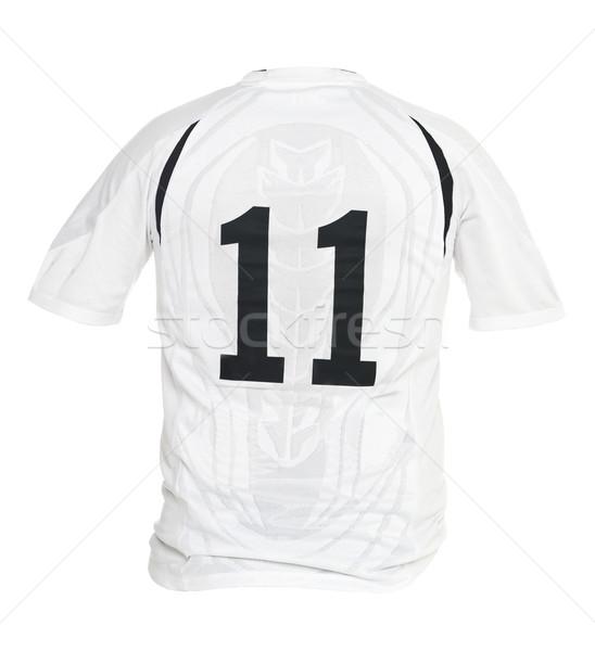 サッカー シャツ 番号 孤立した 白 スポーツ ストックフォト © gemenacom