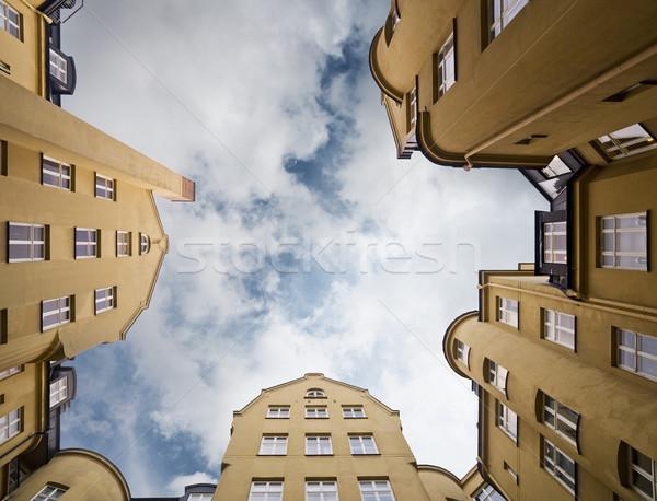 アパート 表示 家 建物 フレーム ストックフォト © gemenacom