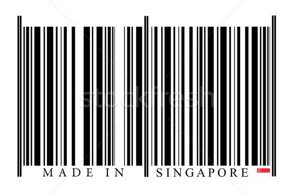 Stok fotoğraf: Singapur · barkod · beyaz · teknoloji · siyah · pazar
