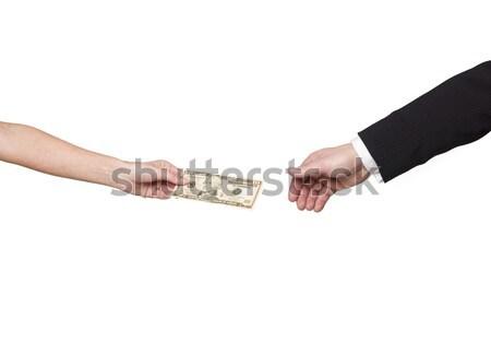 Giving away a dollar-bill  Stock photo © gemenacom
