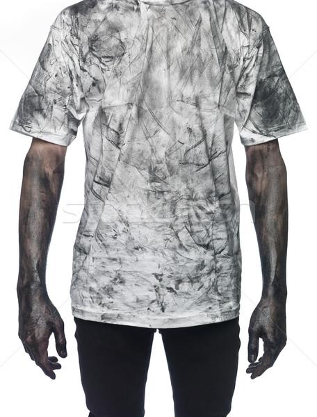 Very dirty man towards white background Stock photo © gemenacom