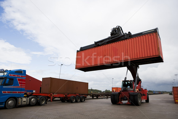 Crane lifts a container Stock photo © gemenacom