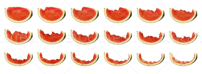 Tasty watermelon in progress isolated on white background Stock photo © gemenacom