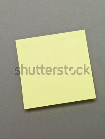 Geel zelfklevend nota grijs papier Stockfoto © gemenacom