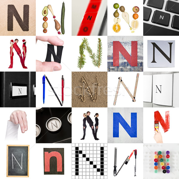 Collage of Letter N Stock photo © gemenacom