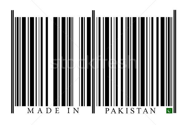 Pakisztán vonalkód fehér technológia fekete piac Stock fotó © gemenacom