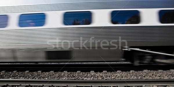 Mozog vonat sebesség mozgás utazás Stock fotó © gemenacom