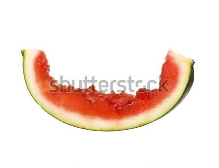 Eaten slice of a watermelon Stock photo © gemenacom