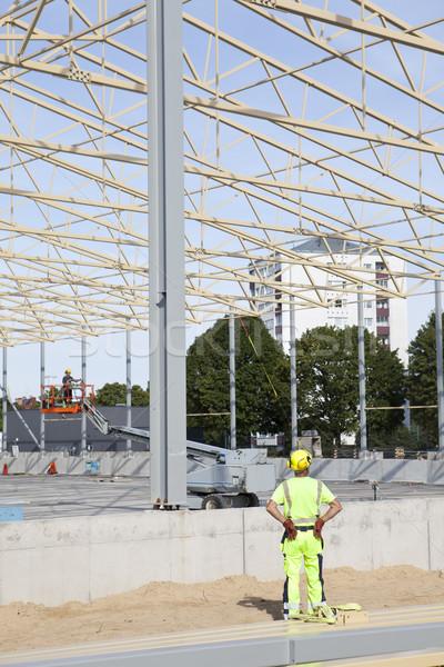 Bouwplaats business hemel gebouw bouw werk Stockfoto © gemenacom