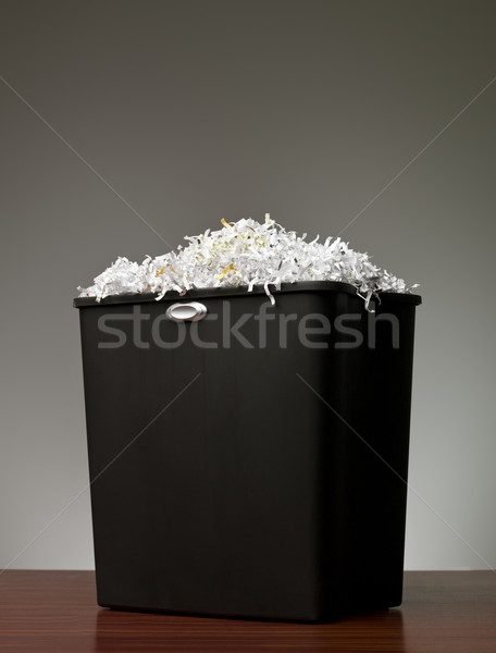 Papier shredder kantoor business mand document Stockfoto © gemenacom