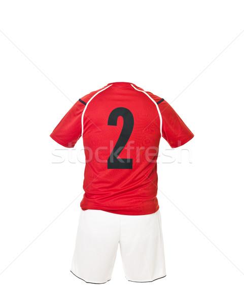 Futebol camisas número isolado branco esportes Foto stock © gemenacom