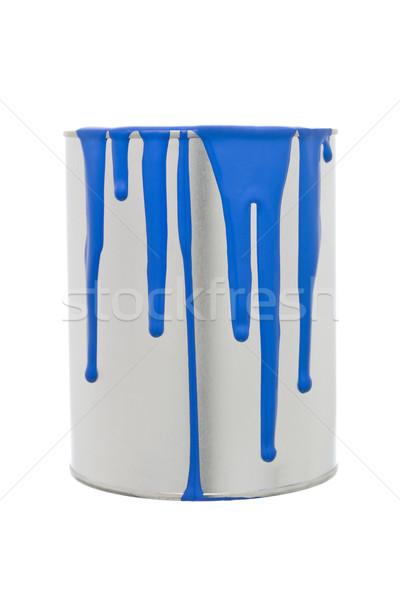 Festékes flakon kék izolált fehér fém csepp Stock fotó © gemenacom