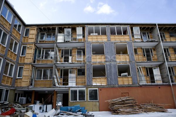 Endommagé appartement ville construction câble Photo stock © gemenacom